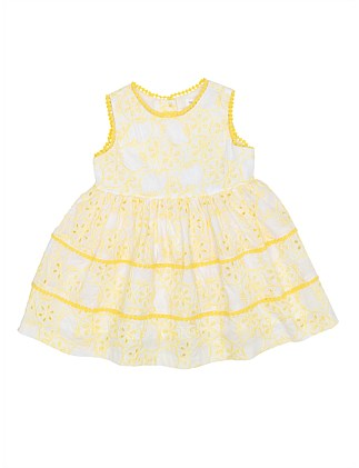 LILY BROIDERIE TIERED DRESS (3M-2Y)