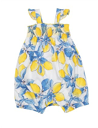 NANCY LEMON ROMPER (3M-2Y)
