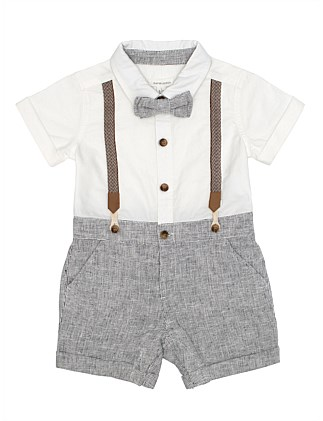 WILLIAM BRACES ROMPER (3M-2Y)