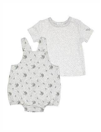 ORGANIC BUBBLE YARDAGE ROMPER / TEE SET (NB-1Y)