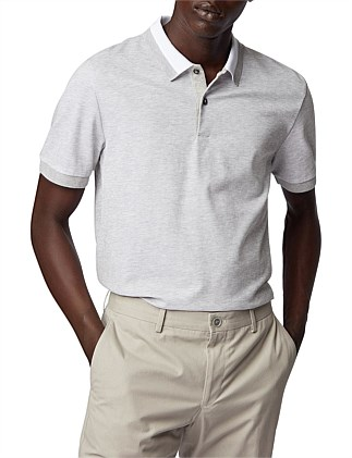 Slim-Fit Polo Shirt In Two-Tone Honeycomb Cotton