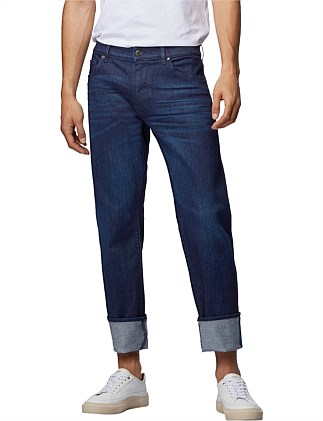 Regular-Fit Jeans In Italian Dark-Blue Stretch Denim
