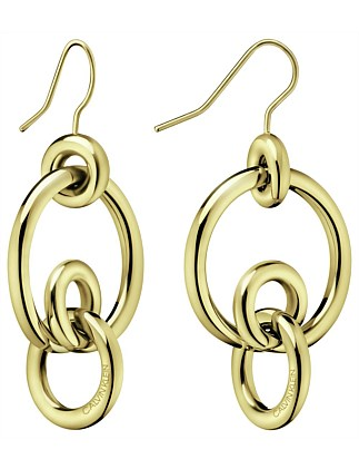 CALVIN KLEIN clink, gold PVD hoop earrings