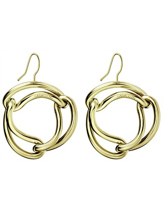 CALVIN KLEIN unified gold PVD earrings