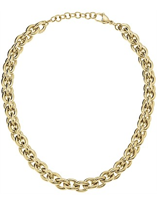 CALVIN KLEIN statement gold necklace