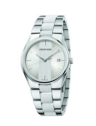 CALVIN KLEIN Silver dial 40mm watch