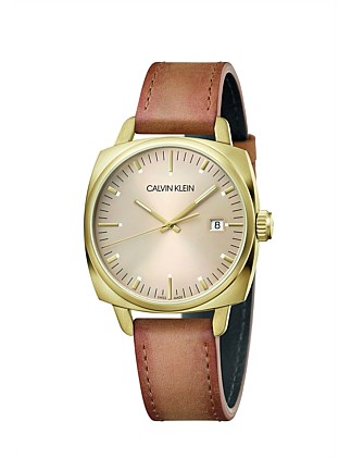 CALVIN KLEIN Fraternity, beige dial, 38mm watch