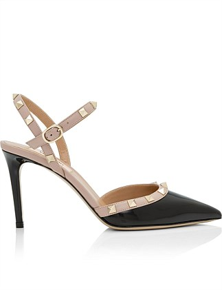 85MM ROCKSTUD SLING BACK NEW