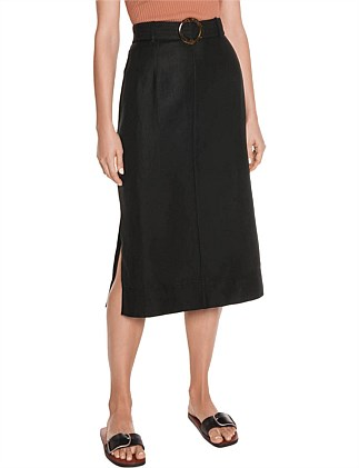 DRAPEY WEAVE PENCIL SKIRT
