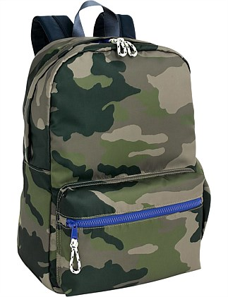 B CAMO BACKPACK IN LARGER SIZE