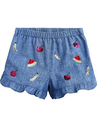 Alana Embroidered Short (Girls 4-7)