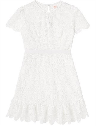 Christmas Ivory lace Dress (Girls 3-7)