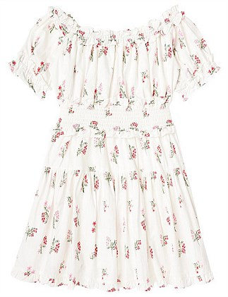 Christmas Be Merry floral Dress (Girls 8-16)