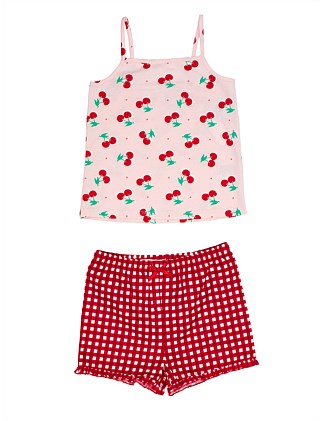 Cherry and Gingham PJ Set