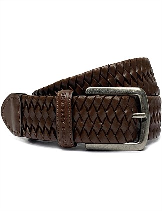 GB BRAIDED PIN BUCKLE BELT
