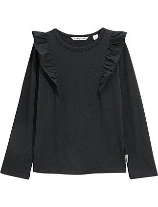 Slub Frill T-Shirt (Girls 2-10)