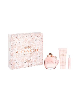 Coach Women Floral 3PC Gift Set