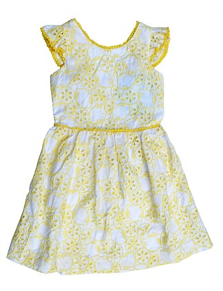 Annabelle Broiderie Dress (Girls 3-7)
