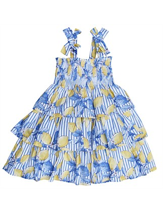Megan Lemon Dress (Girls 3-7)