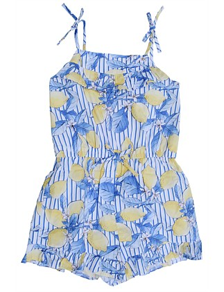 Evelyn Lemon Playsuit (Girls 3-7)