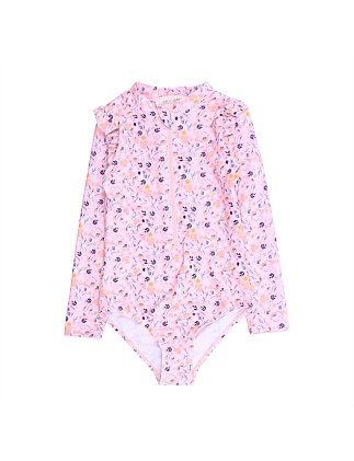Girls Floral Sunsuit