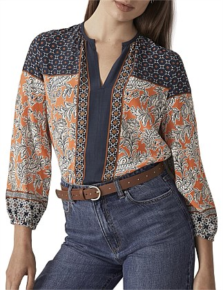 Etched Paisley Blouse