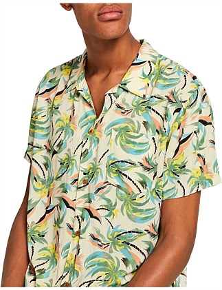 HAWAIIAN FIT - Printed shortsleeve shirt