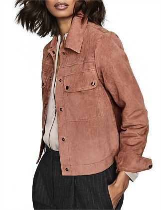 NINA SUEDE TRUCKER JACKET