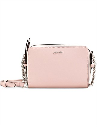 MARYBELLE DUAL ZIP COMPARTMENT CROSSBODY BAG