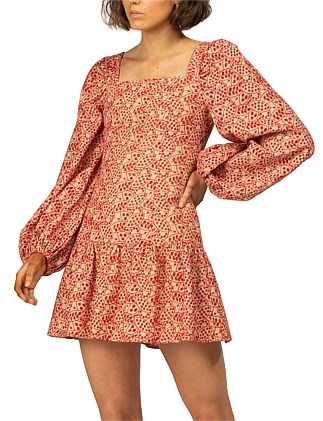 COSTA DEL SOL BRODERIE SLEEVED DRESS