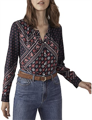 MOROCCAN PAISLEY BLOUSE