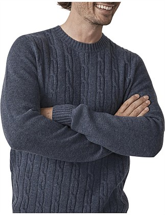 CABLE KNIT CREW KNIT