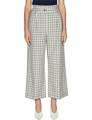 HOUNDSTOOTH CHECK PAPERBAG PANT