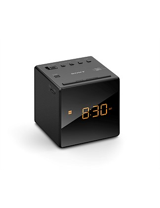 ICFC1B Single Alarm Clock Radio - Black