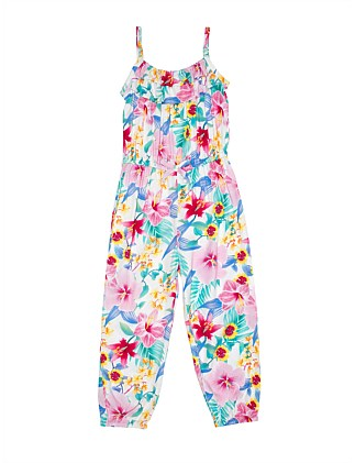 Zelda Floral Jumpsuit (Girls 3-7)