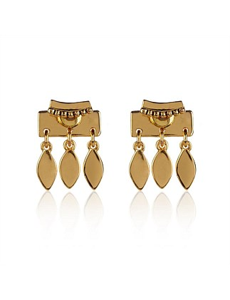 Marquise Dangle Studs