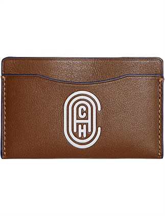 SMALL CARD CASE WITH COACH PATCH