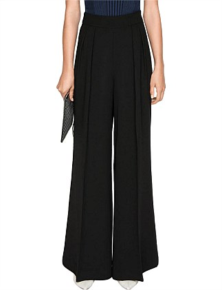 CREPE TUCK FRONT PANT