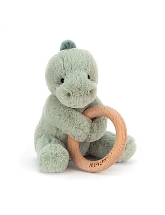 Jellycat Dino wooden ring toy