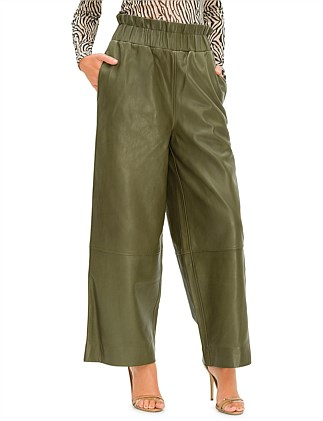 Lamb Leather trousers wide leg