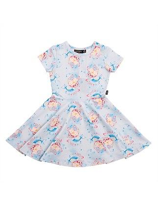 Under the Sea Waisted Dress (Girls 3-7)