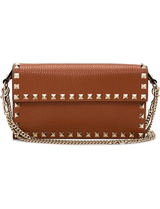ROCKSTUD DOUBLE CHAIN POUCH