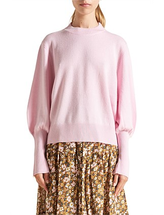 Cashmere Balloon Sleeve Knit