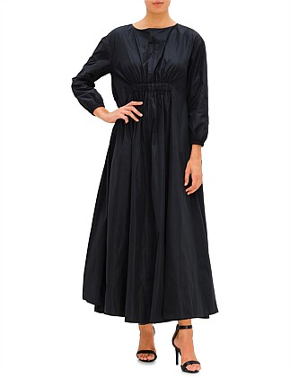 LS GATHERED LONG DRESS