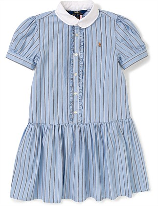 Stripe Shdrs-Dresses-Woven (5-7 Years)