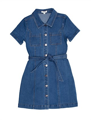 Sabrina Denim Dress (Girls 8-16)