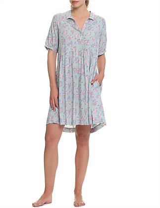 Iggy Olive Pleat Front Nightshirt