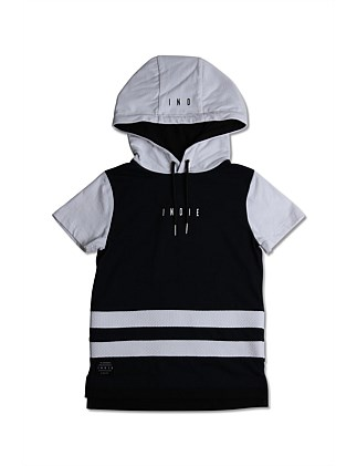 Double Stripe SS Hoodie (Boys 3-7 Years)