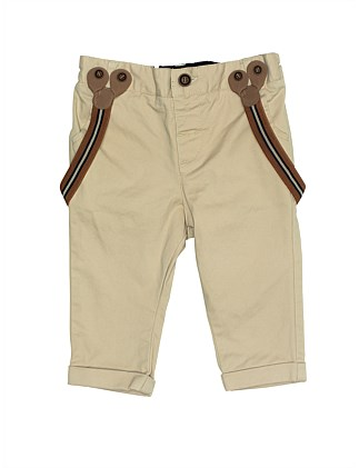 TB ARCHER MINI DRILL PANT WITH BRACES (3M - 2Y)