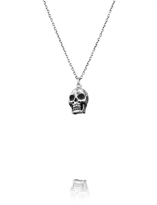 DELICATE SKULL CHARM NECKLACE 40CM